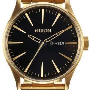 Montre Nixon Sentry SS Gold Tone hommes cadran noir A356-510-00