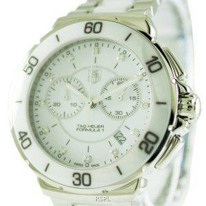 Tag Heuer Formula One chronographe Diamond cadran blanc CAH1211. BA0863 Women Watch