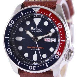 Watch Ratio en cuir brun SKX009J1-LS1 200M hommes Seiko automatique montre de plongée