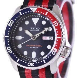 Montre 200M NATO bracelet SKX009J1-NATO3 masculin automatique Seiko Diver