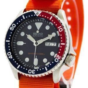 Montre 200M NATO bracelet SKX009K1-NATO7 masculin automatique Seiko Diver