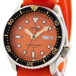 Montre 200M NATO bracelet SKX011J1-NATO7 hommes automatique Seiko Diver