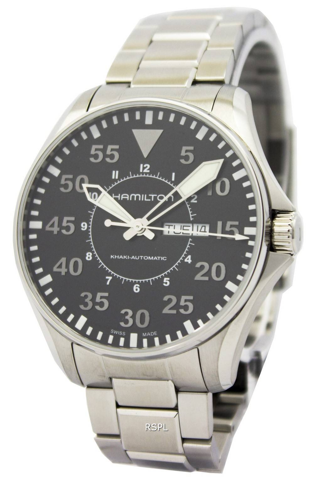 Montre Hamilton Khaki Aviation pilote automatique H64715135 masculin