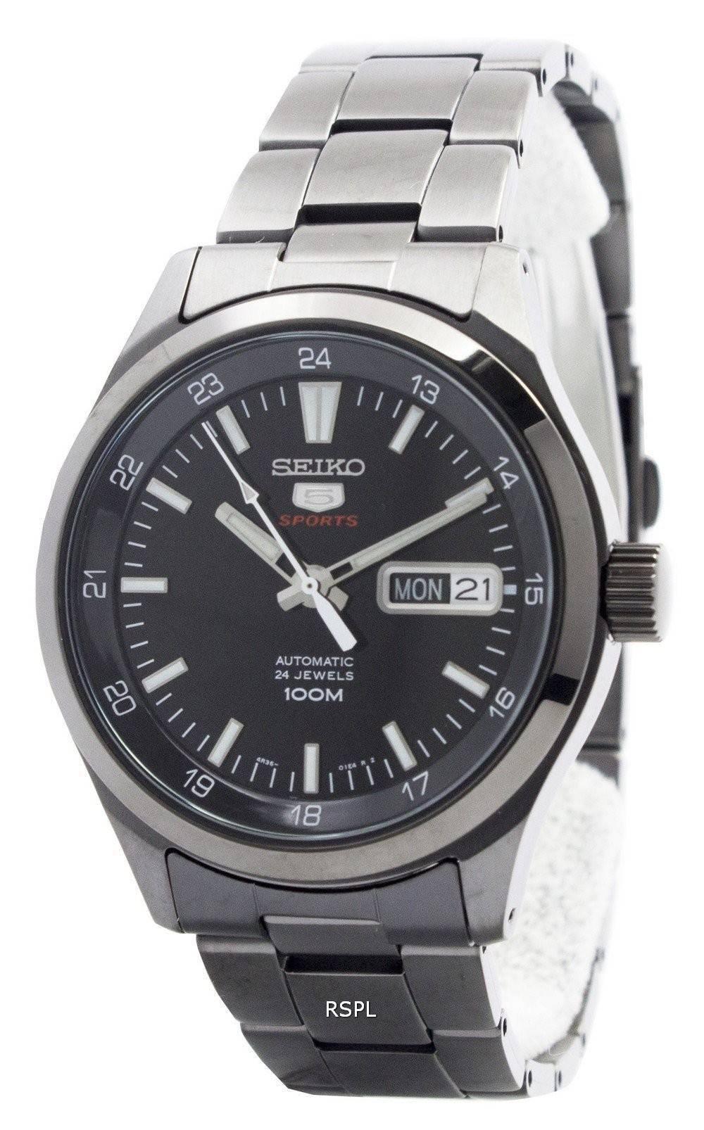 Seiko 5 Sports automatique 24 bijoux SRP267K1 SRP267K hommes France 594f80f5e5e3
