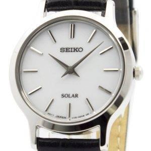 Montre Seiko solaire cadran blanc cuir sangle SUP299P1 SUP299P féminin