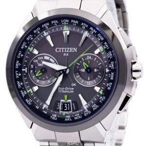 Citizen Eco-Drive Attesa Titanium Satellite vague Air GPS 100M CC1086-50E montre homme