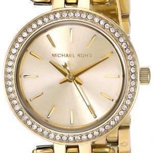 Montre Michael Kors Darci Mini cristaux Swarovski doré MK3295 féminin