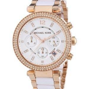 Montre Michael Kors Parker chronographe cristaux MK5774 féminin
