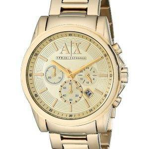 Armani Exchange Quartz chronographe or ton AX2099 montre homme