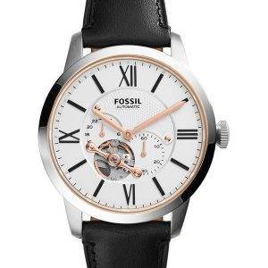 Citadin fossiles automatique cuir noir sangle ME3104 montre homme