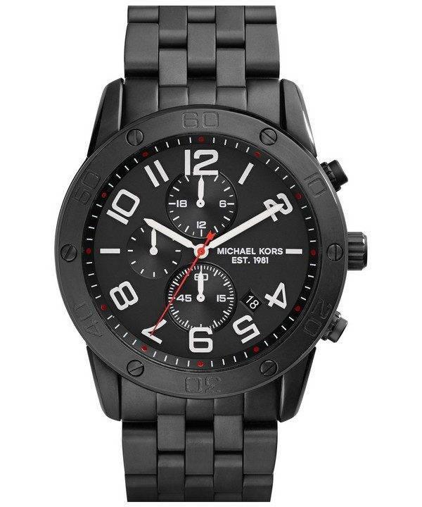 Michael Kors Mercer Chronographe Quartz Ion noire plaqué MK8350 montre homme