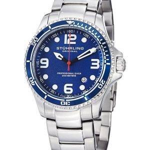 Stührling Original Aquadiver spécialité régate Grand Quartz Suisse HN593.33 montre homme