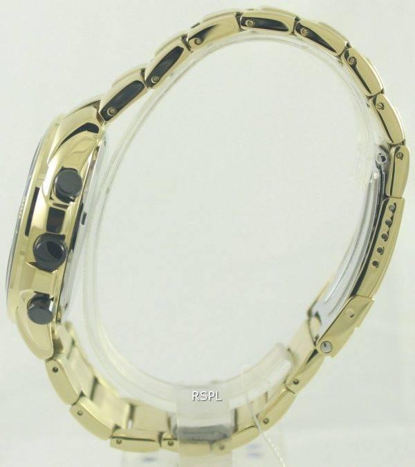 Citizen chronographe tachymètre AN4012-51F AN4012 Gold Tone montre homme