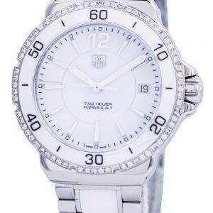 Tag Heuer Formula 1 en céramique blanc diamants Swiss Made WAH1213. BA0861 Women Watch