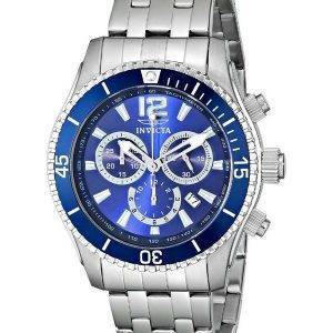 Invicta II spécialité cadran bleu chronographe 0620 montre homme