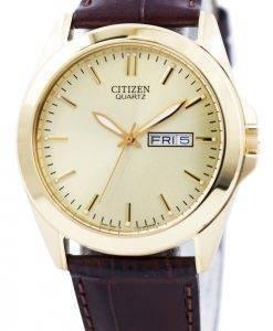 Citizen Quartz Gold Tone analogique BF0582-01 P montre homme