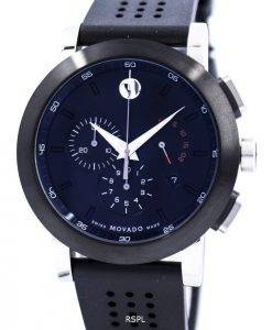 Montre Movado Museum Sport Chronograph Swiss Made Quartz 0606545 masculin