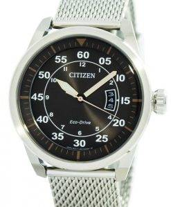 Aviator Citizen Eco-Drive Mesh Band AW1360-55F montre homme