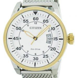 Aviator Citizen Eco-Drive Mesh Band AW1364-54 a montre homme