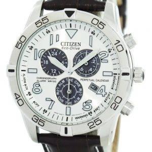 Citizen Eco-Drive quantième perpétuel chronographe alarme 100M BL5470-06 a montre homme