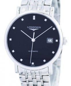 Montre Longines élégant diamant automatique Accent L4.810.4.57.6 Hommes