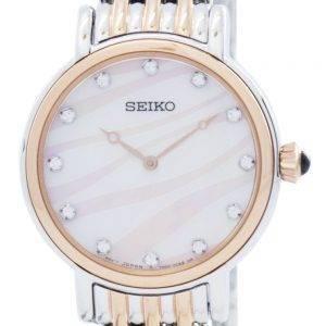 Montre Seiko Quartz cristaux Swarovski SFQ806 SFQ806P1 SFQ806P féminin