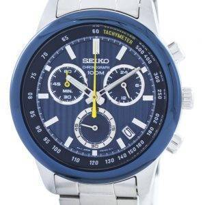 Seiko Sports chronographe quartz Tachymètre SSB207 SSB207P1 SSB207P Montre pour hommes