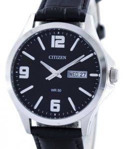 Citizen Quartz Black Dial BF2001-04E Montre Homme