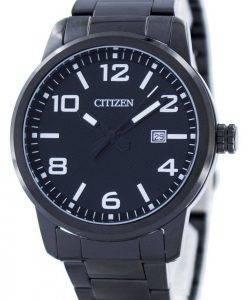 Citizen Quartz Black Dial BI1025-53E Montre Homme