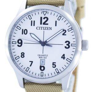 Citizen Quartz Blanc Dial BI1050-05A Montre Homme