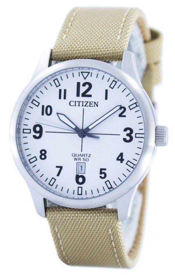 Citizen Quartz Blanc Dial BI1050-05A Montre Homme