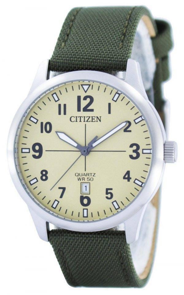 Citizen Quartz Champagne Dial BI1050-05X Montre Homme