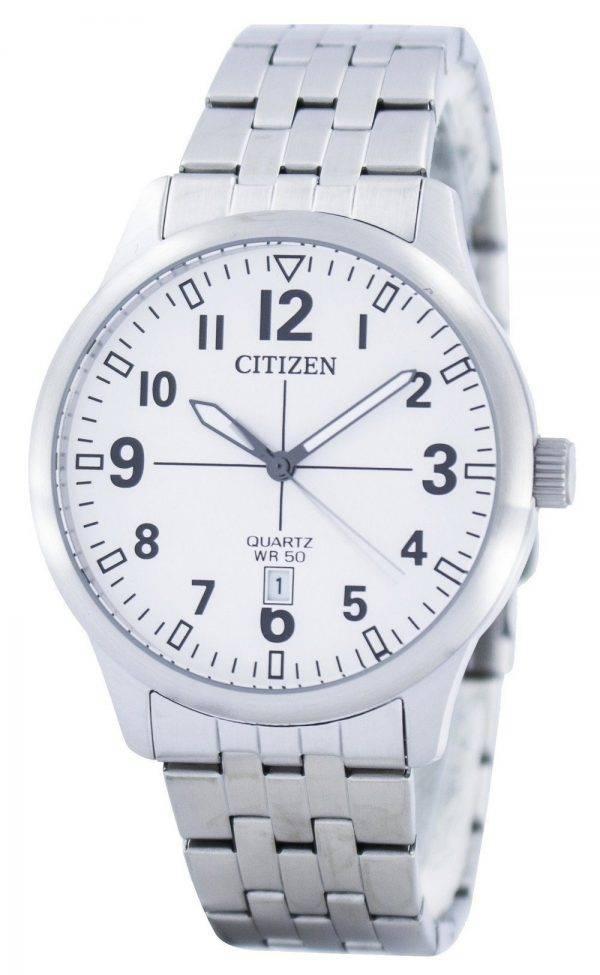Citizen Quartz Blanc Dial BI1050-81B Montre Homme