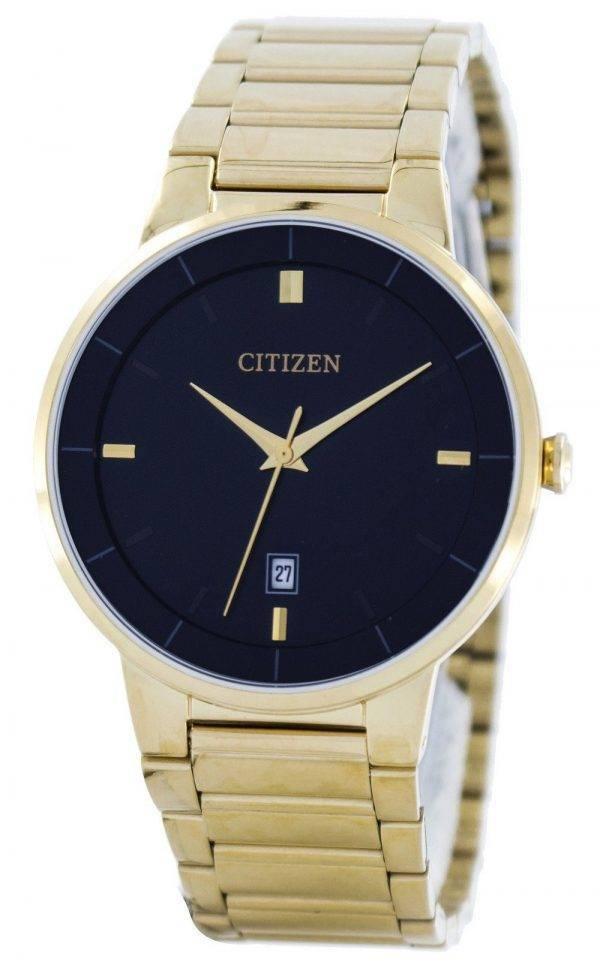 Citizen Quartz Black Dial BI5012-53E Montre Homme