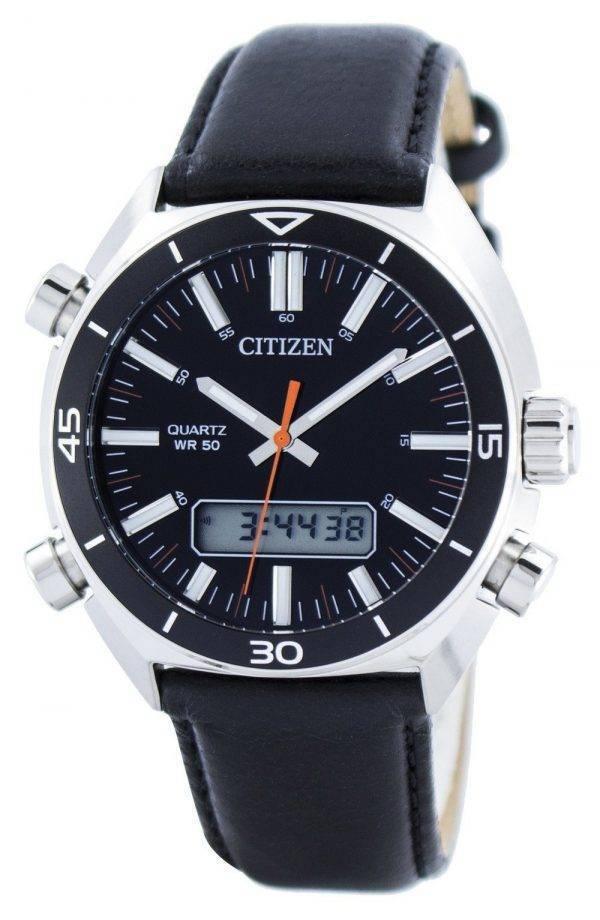 Citizen Quartz Alarm Chronographe Analogique Digital JM5460-01E Montre Homme
