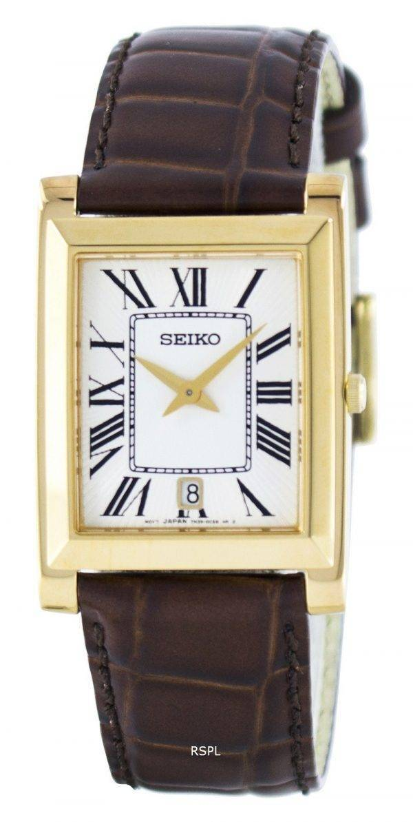 Montre Seiko Quartz rectangulaire élégant SKP362 analogiques SKP362P1 SKP362P hommes
