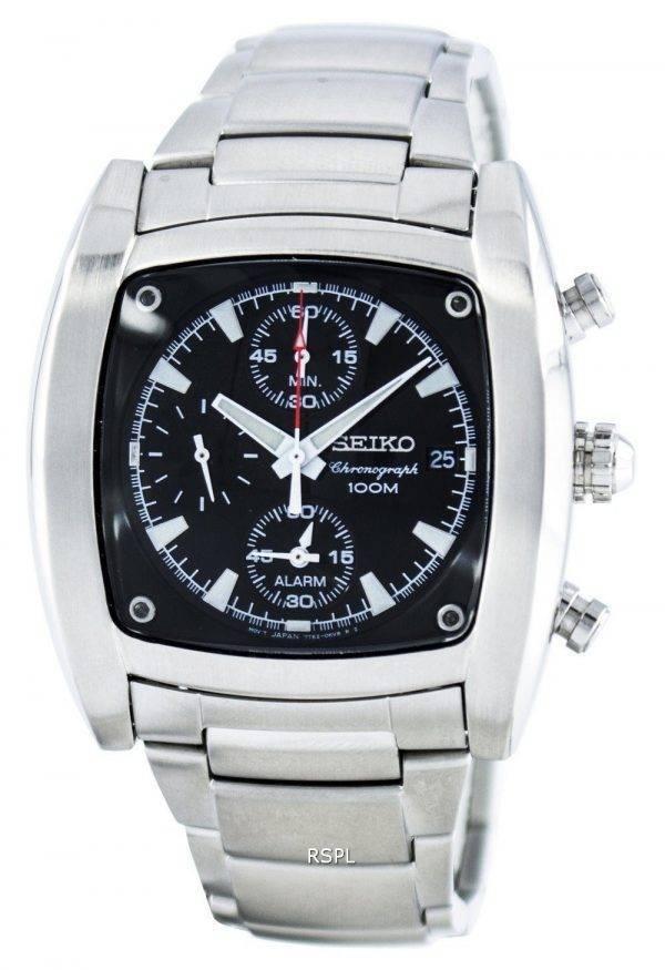 Montre Seiko Quartz chronographe alarme SNAA97 SNAA97P1 SNAA97P hommes