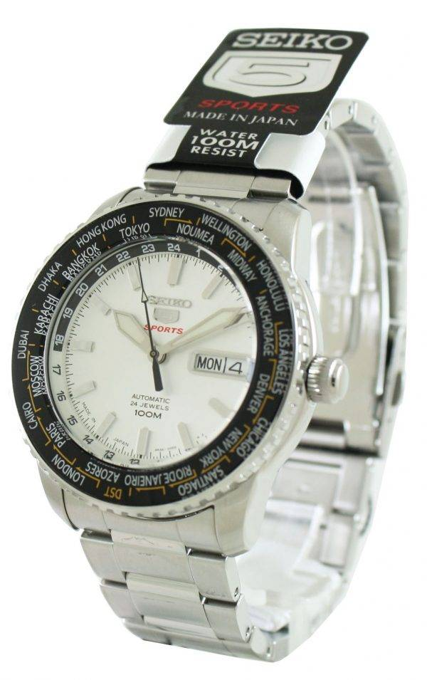 Seiko 5 Sports Automatique Japon Made SRP123J1 SRP123J Montre Homme