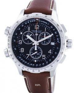 Hamilton Khaki Aviation X-Wind Chronographe Quartz GMT Swiss Made H77912535 Montre Homme