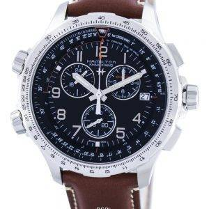 Hamilton Khaki Aviation X-Wind Chronographe Quartz GMT Swiss Made H77912535 Montre Homme