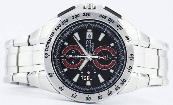 Montre Seiko Quartz chronographe alarme SNAB07 SNAB07P1 SNAB07P hommes