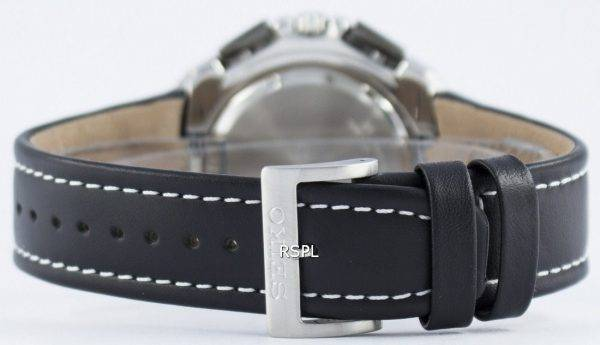 Montre Seiko Quartz chronographe alarme SNAB11 SNAB11P1 SNAB11P hommes