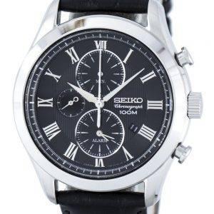 Montre Seiko chronographe Quartz alarme SNAF71 SNAF71P1 SNAF71P hommes