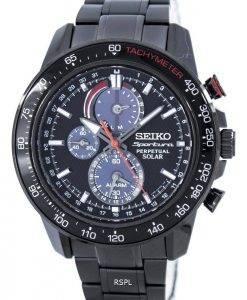 Montre Seiko Sportura perpétuelle solaire multifonctions SSC427 SSC427P1 SSC427P masculine