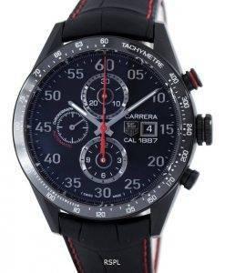 Tag Heuer Carrera chronographe automatique titane Calibre 1887 Suisse fait CAR2A80. FC6237 Montre homme