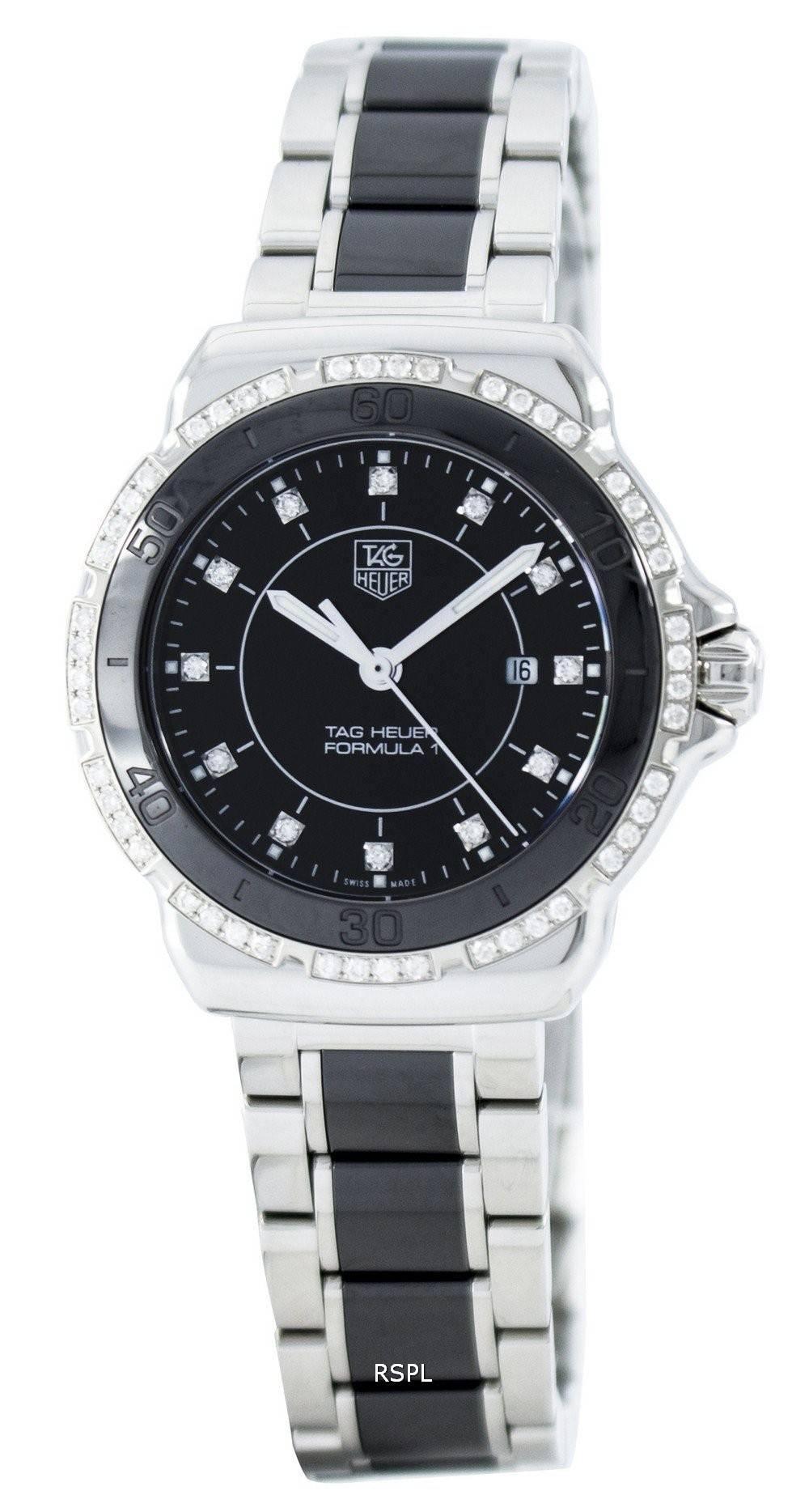 35388c94a11 Tag Heuer Formula 1 Quartz diamant Accent Suisse fait 200M WAH1312. BA0867  Women Watch