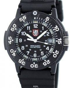 Luminox Sea Navy Seal origine 3000 Series Quartz Swiss Watch 200M XS.3001 Men