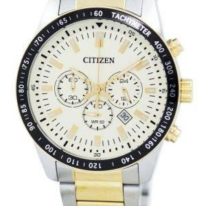 Montre Citizen Quartz chronographe tachymètre AN8076 - 57P masculine