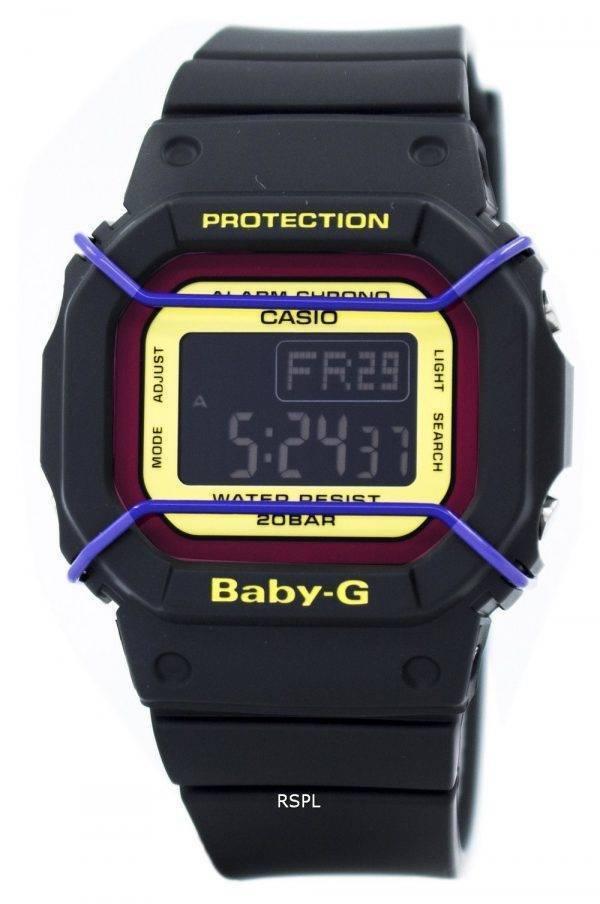 Montre Casio Baby-G numérique mondiale Temps 200M BGD-501-1B femmes