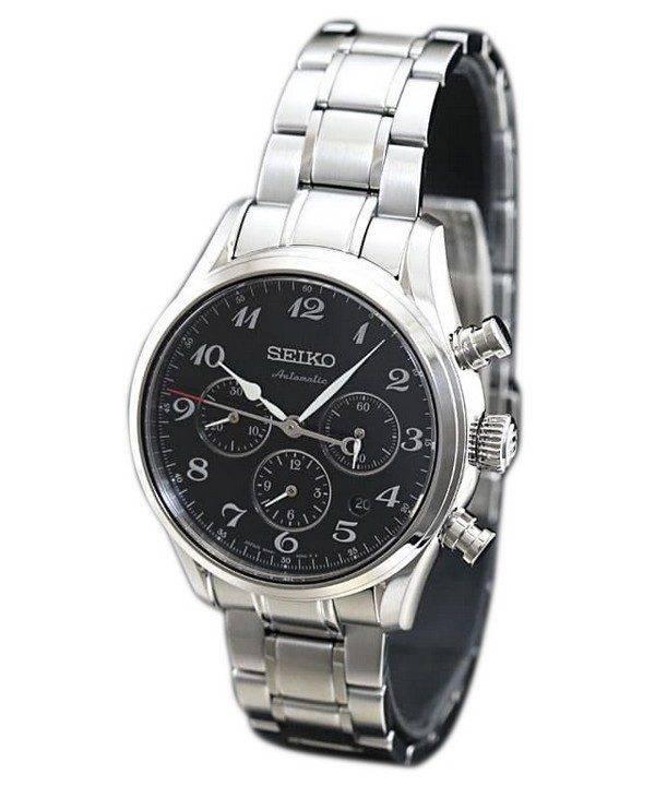 3be4eb3cfd Presage de Seiko chronographe automatique Japon fait SARK009 montre homme